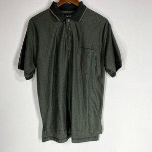 Knights Round Table Green Collared Polo Shirt Sz M